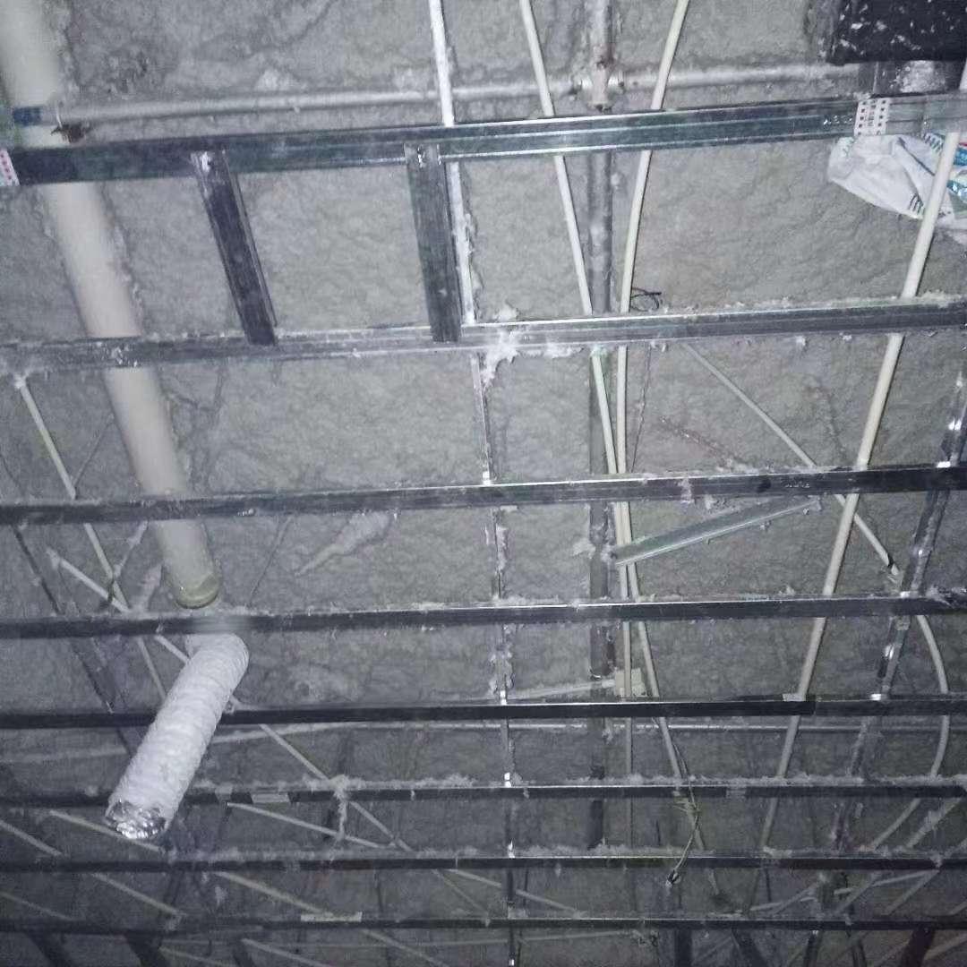 地下室无机纤维喷涂施工